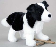 Border Collie Plush Stuffed Animal 8 Inch from Animal Den
