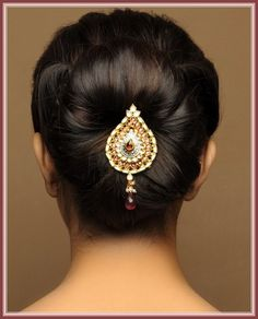 Indian Bridal Bun Hairstyles - Indian Beauty Tips Protective Hairstyles, Bun Hairstyles, Trendy Hairstyles, Fashion Hairstyles, Updo Hairstyle, Chignon Updo, Perfect Hairstyle, Hairstyles Pictures, Creative Hairstyles