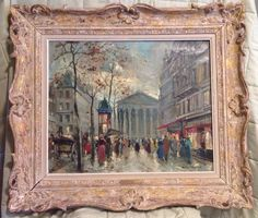 Antoine Blanchard -  Oil on Canvas - Rue De La Madeleine Paris - Marcel Masson #Postimpressionism