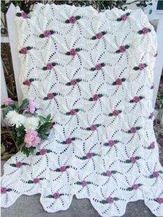 Pinwheel Rose Afghan Crochet Pattern.