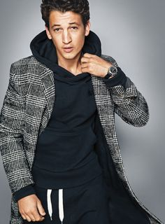 Miles Teller, photographed by Ben Watts for GQ, Dec 2014.