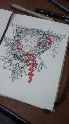 Inatingível, leão. #leao, #lion, #blackwork, #draw #desenho #sketchbook Blackwork, New Years Eve Party, Drawings, Sketches, Drawing Animals, Draw, Draw, Drawing, Doodles