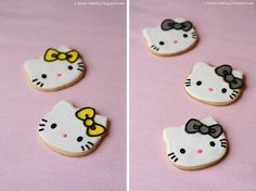 hello kitty decorated cookie tutorial