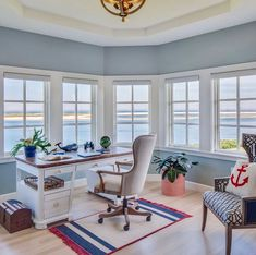 "Custom Home Builder on Instagram: ""Question: What do you get for the man who has everything?  Answer: A home office with a view.  Happy Fathers Day, friends! . . . . Designer…"""