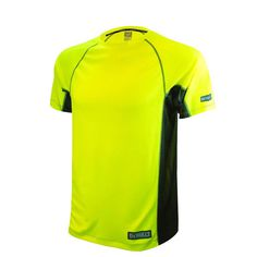 Men's 2X-Large High Visibility Green 2-Tone Non-Rated Short Sleeve Performance T-Shirt, Size: 2XL