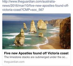 Have you been in the famous Twelve Apostles? This is a natural attraction on the Great Ocean Road in Victoria (about 3 hours from Melbourne). Although its called the Twelve Apostles you can only really see 8 beautiful rocks. Five more drowned Apostles were discovered recently under the water. This article is a MUST READ.  #thingstodo #12apostles #australia #beautifulplace #discoverd by langports http://ift.tt/1ijk11S