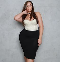... Comments - Thick Chic Boutique (@shopthickchic) on Instagram: u201cPearls u0026  Curves!! Shop Bustier u0026 Fitted Skirt Available Now!! www.thickchicboutique. comu2026u201d