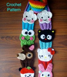 Hello Kitty and Friends Cupcake Rainbow Scarf by prettythings55, $9.99 DIY Needle wool felt cute dog and cake set  KIT by HanamiBoutique, $1...