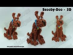 Rainbow Loom 3D SCOOBY DOO. Designed and loomed by Kate Schultz at Izzalicious Designs. Click photo for YouTube tutorial. 06/15/14.