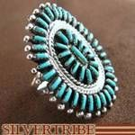 Authentic Sterling Silver Southwest Jewelry Turquoise Ring