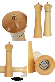 These pepper and salt mills are crafted from salvaged Huon Pine, now protected and unable to be harvested.This rare wood is notable for its fine grain and beautiful buttery colour. The Danish grinding mechanism has a 10 year guarantee.