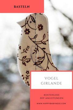 VOGEL GIRLANDE *** Kostenlose DIY Anleitungen | Ostern Saison | Einfaches Tutorial | Fenster Dekoration Basteln | Papier | happybaybness.com