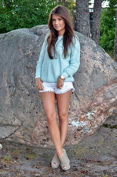 Every girl should have white shorts and white skinny jeans in her closet!