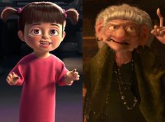 The Real Identity of the Witch From Brave: Are you ready for this one? Jon Negroni came up with this brain-boggling theory that not only does every Pixar movie exist in the same world, but they are all connected. The end result: Boo from Monsters, Inc. is actually the witch from Brave.
