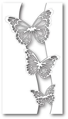 Memory Box Die -Butterfly Swell Craft now available at The Rubber Buggy Craft die from Memory Box featuring a trio of butterflies. x 14 centimeters.Partial outline for a privacy wall. sizes: x inchesFor matching solid butterflies, use the Butterfly E Stencils, Stencil Art, Stencil Patterns, Stencil Designs, Kirigami, Metal Art, Wood Art, Diy And Crafts, Paper Crafts