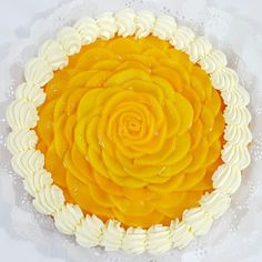 Tarta de duraznos 3d Cakes, Mini Cakes, Quiches, Cake Decorating For Beginners, Mango Cake, Sugar Cake, Fruit Tart, Food Presentation, No Bake Cake