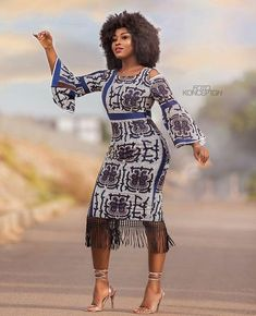 The complete collection of Exotic Ankara Gown Styles for beautiful ladies in Nigeria. These are the ideal ankara gowns African Print Dresses, African Wear, African Attire, African Fashion Dresses, African Women, African Dress, African Prints, Ankara Fashion, African Style