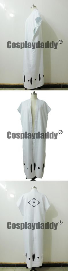 Bleach Ichimaru Gin Cosplay Captain of the 3rd Division Cloak H008