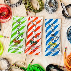 three month shoelace subscription by aces laces   notonthehighstreet.com