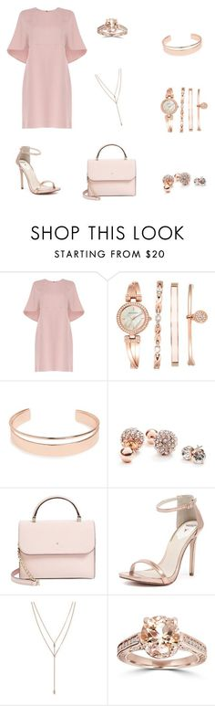 """Rose Gold"" by kayy-giuseppe ❤ liked on Polyvore featuring Valentino, Anne Klein, Leith, GUESS, Kate Spade, Windsor Smith and Vince Camuto"