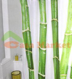 Cortinas de ducha de tela en pinterest cortinas de ducha for Cortinas para baneras