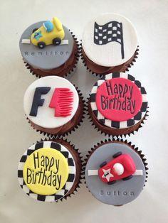 Formula 1 birthday cupcakes