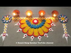 दारात बनवा सुंदर व रांगोळी pooja rangoli Rangoli Designs Simple Diwali, Happy Diwali Rangoli, Simple Rangoli Border Designs, Rangoli Designs Latest, Rangoli Designs Flower, Free Hand Rangoli Design, Small Rangoli Design, Rangoli Patterns, Rangoli Kolam Designs
