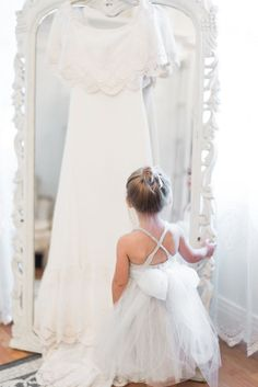 The sweetest little flower girl and a gorgeous gown - nothing better! #cedarwoodweddings