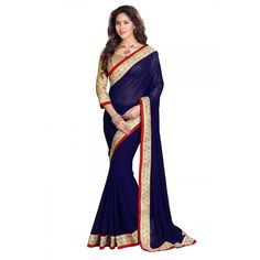Designer Blue Fuax Georgette Saree At Girotra Store Opening - Buy Designer Blue Fuax Georgette Saree Online at Best Prices in India | Vendorvilla.com at just Rs.750/- on www.vendorvilla.com. Cash on Delivery, Easy Returns, Lowest Price.