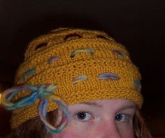 Ginny Weasley's Goblet of Fire Hat Free Knitting Pattern   Harry Potter inspired Knitting Patterns, many free knitting patterns   These patterns are not authorized, approved, licensed, or endorsed by J.K. Rowling, her publishers, or Warner Bros. Entertainment, Inc.
