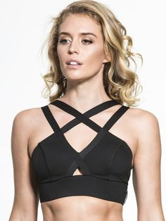 Radiate Medium Support Sport Bra in Black by Michi from Carbon38