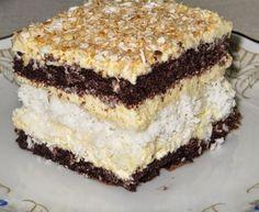 Ciasto czekoladowo-kokosowe Polish Desserts, Polish Recipes, No Bake Desserts, Sweet Recipes, Cake Recipes, Dessert Recipes, Pastry Cake, How Sweet Eats, Homemade Cakes