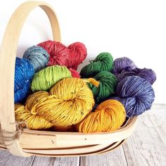 Is there anything better to start the weekend with than a basket of yarn? I hope you have a lovely weekend planned full of bright yarn and plenty of time to use it.