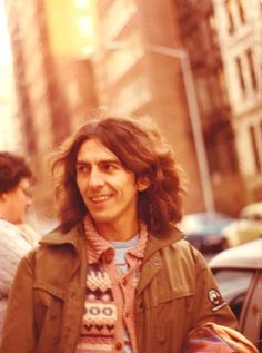 George Harrison in NYC 1976, on his way to perform on Saturday Night Live in a pair of duets with Paul Simon