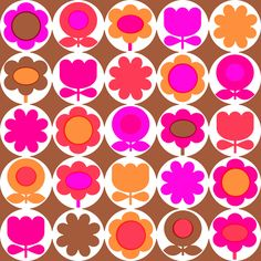Handmade by alice apple: mod flower repeats Cool Patterns, Vintage Patterns, Print Patterns, Textiles, Textile Patterns, Floral Patterns, Textile Design, Floral Prints, Retro Fabric