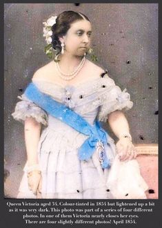 Queen Victoria aged This photo was part of a series of four different photos. In one of them she nearly closes her eyes. Colour-tinted in Queen Victoria Age, Queen Victoria Family Tree, Victoria Reign, Victoria And Albert, British History, Asian History, Tudor History, Victorian Photography, Viking Woman