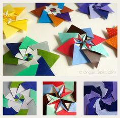 estrella modular en origami 0 tres variaciones