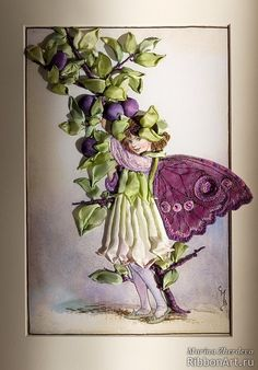 I ❤ ribbon embroidery . . . The Sloe Fairy, Marina Zherdev