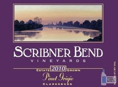 Scribner Bend wine label