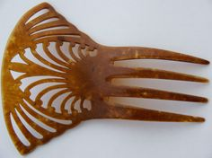 Antique Victorian Faux Tortoise Shell Hair Comb