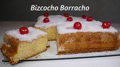 Bizcocho Borracho / RECETA CASERA / Muy RICO y FÁCIL de hacer   Vanilla Cake, Cheesecake, Desserts, Youtube, Food, New Recipes, Easy Recipes, Pastries, Cinnamon Rolls