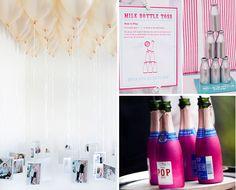 Balloon chandelier - pics of wedding couple hanging from helium balloons