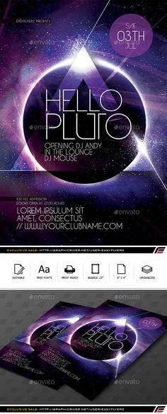 Futuristic Flyer Template #design Download: graphicriver.net/...