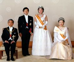 Crown Princess Masako and Crown Prince Naruhito with Emperor Akihito and Empress Michiko of Japan.