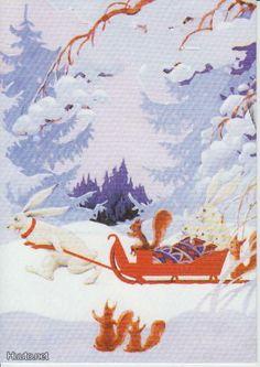 Rudolf Koivu Holiday Cards, Christmas Cards, Vintage Book Art, Christmas Illustration, Scandinavian Christmas, Martini, Winter Wonderland, Fairytale, Woodland