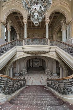 Abandoned Casino Constanta, that looks over the Black Sea, was once the most magnificent building in all of Romania where wealthy travelers and the elite flocked from all over Europe. photo by Romain Veillon Architecture Old, Beautiful Architecture, Beautiful Buildings, Beautiful Places, Classical Architecture, Abandoned Castles, Abandoned Mansions, Abandoned Places, Abandoned Property