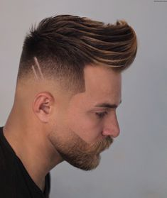 Check out these cool and modern ways to wear the quiff haircut. Add a peak to a pompadour, spikes or any fade haircut for men. Mens Modern Hairstyles, Cool Hairstyles For Men, Creative Hairstyles, Cool Haircuts, Haircuts For Men, Up Hairstyles, Men's Haircuts, Blond, Modern Quiff