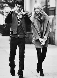 Andrew Garfield and Emma Stone. Most possibly the cutest couple in ever.
