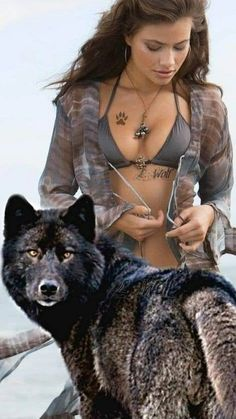 Save Gray Wolf, buy quality products and provide wolf sanctuary! - 🐺💕💃🏻Wolves and Women Images? to explore awesome wolf decor, - Native American Wolf, Native American Pictures, Native American Beauty, Wolf Images, Wolf Photos, Wolf Pictures, Wolves And Women, Fantasy Wolf, Wolf Spirit Animal