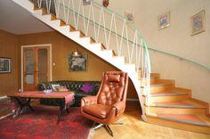 1950s stairs. Trappa 1954, Fränsta - Svensk Fastighetsförmedling